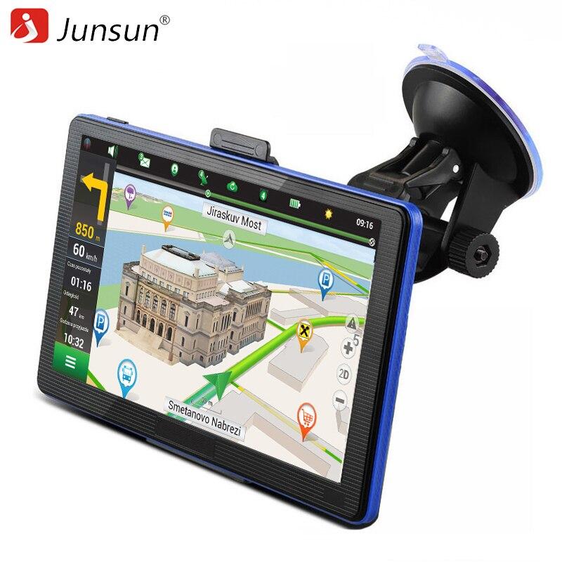 Prix pour Junsun 7 pouce HD Capacitif Voiture GPS Navigation 8 GB MP3/MP4 FM Russie Navitel carte Permanent mise à jour gratuite navigateurs