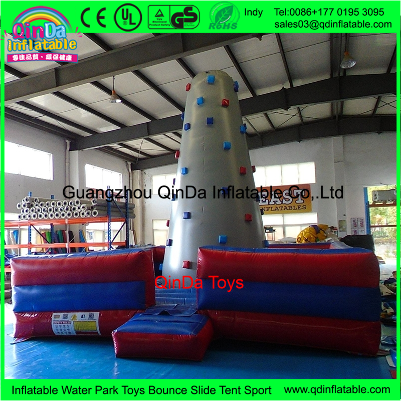 Sport game inflatable tower for climbing,6*6*5m inflatable rock climbing wall for sale