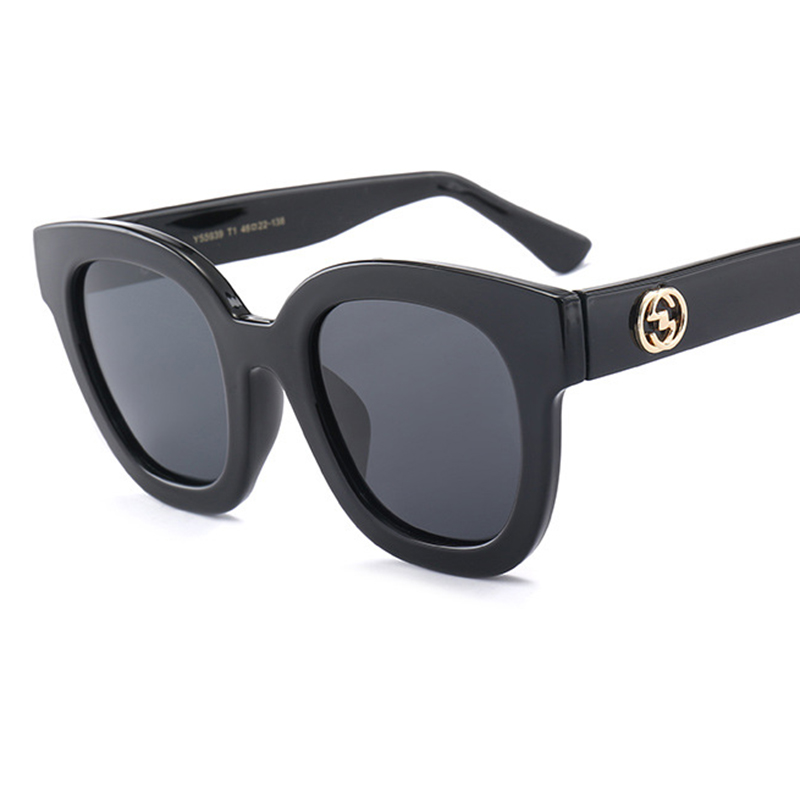 4b92b0af28 Retro Polarized Women Sunglasses 2018 Brand Designer Retro Round shades Sun  glasses Big frame Square glasses for women UV400