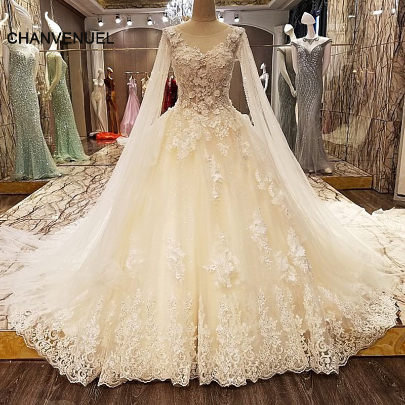 Crystal Wedding Gown: LS89573 Luxury Lace Crystal Wedding Dresses Beading Ball