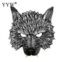 Realistic Wolf Masks Animales Cosplay Halloween Scary Masker Party Mascara Man Carnival Masquerade Mask Props