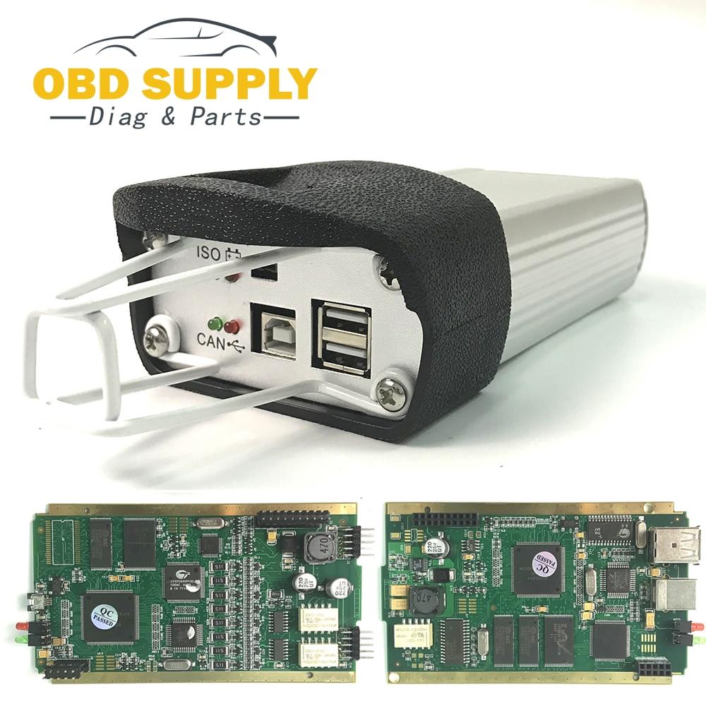 Code Lecteur Complet Puce CYPRESS AN2135SC Pour Renault Peut Clip V172 OBD2 De Diagnostic Interface Multi-Langue Peut Clip Pour renault