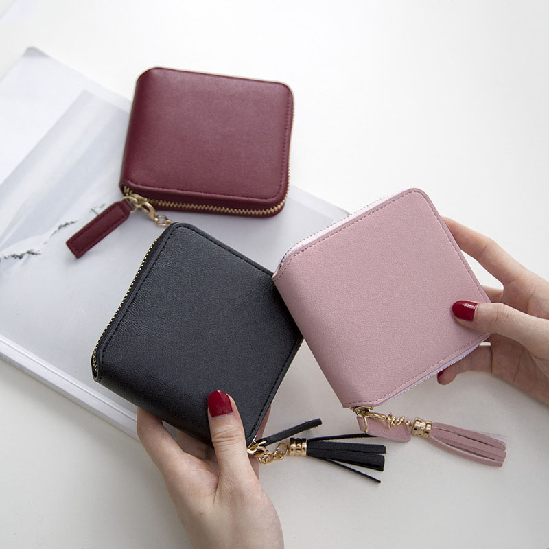 Wallets Women Purse Women's Wallets Short Zipper Purses Female Luxury Brands Card Holder Women Coin Clutch Purse Tassel Wallet new fashion female hasp 3 fold wallet zipper coin purses rabbit ears set auger short women wallets lady clutch purse card holder