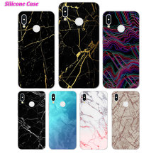 Silicone Case Line Marble Luxury for Huawei P Smart 2019 Plus P30 P20 P10 P9 P8 Lite Mate 20 10 Pro Lite Nova 3i Cover купить недорого в Москве