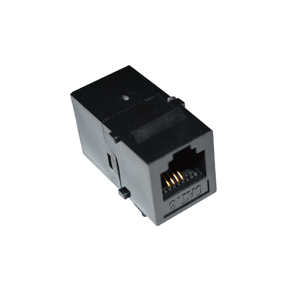 6P4C Straight Through Telephone Module RJ11 Connector Information Socket Voice Coupler Cable Adapter CAT3 Telecom Keystone Jack