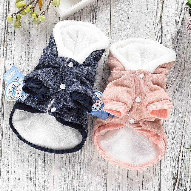 Funny Ears Pitbull Funny Dog Clothing Bling Small Puppy Apparel For Yorki Accessories Cute Winter Warm Thick Pet Hoodie Coat Pug 3