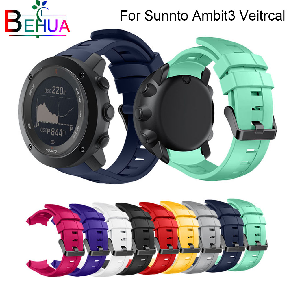 Multi-Color Quality Stylish Sports Watch with Silicone Bracelet Strap for For Suunto Ambit3 Vertical HOT