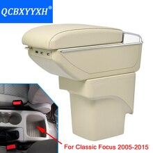 Abdeckung Für Ford Klassischen Fokus 2005-2015 Armlehne Box Zentralen Speicher Inhalt Box Getränkehalter Innen Auto-styling produkte Zubehör