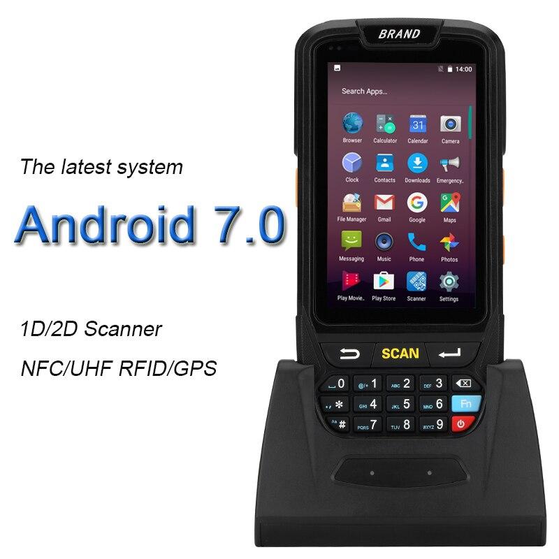 Industrielle Robuste Collecteur de Données Portable Sans Fil 4g Terminal de Données Mobile 1D 2D Laser Barcode Scanner Android 7.0 PDA Dispositif
