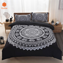 Mandala Bedding Set Posture Million Romantic Soft Bedclothes Twill Bohemain Duvet CoverSet with Pillowcases no sheet 3Pcs Sj59