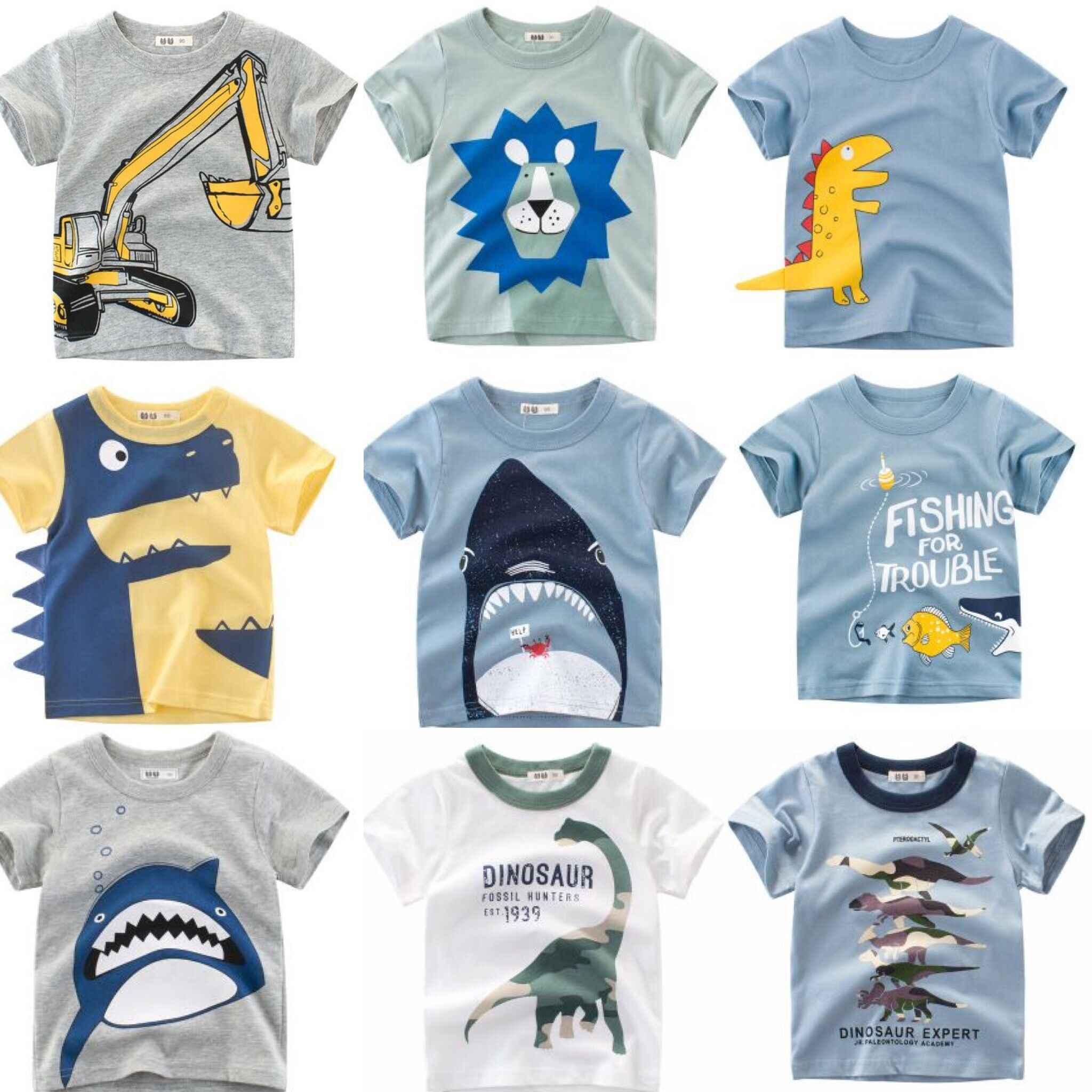 Kids Boys T-shirt New Summer Design Baby Cotton Tops Summer Clothing Toddler Fashion T-shirt Cute Children Play Clothes 2-7Y