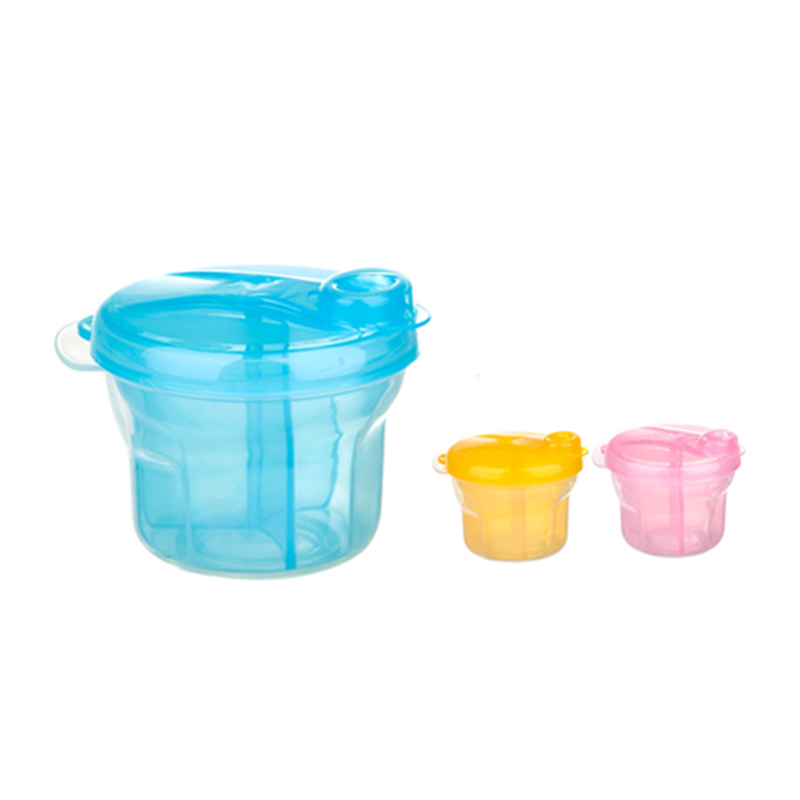 New Baby Portable Three-grid Rotating Milk Powder Container Formula Storage Feeding Holder Travel Supplement Food Grid Box T0732