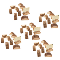 50pcs Wooden Table Number Holders Wooden Place Card Holder Wooden Wedding Card Holder for Home Birthday Party Decoration