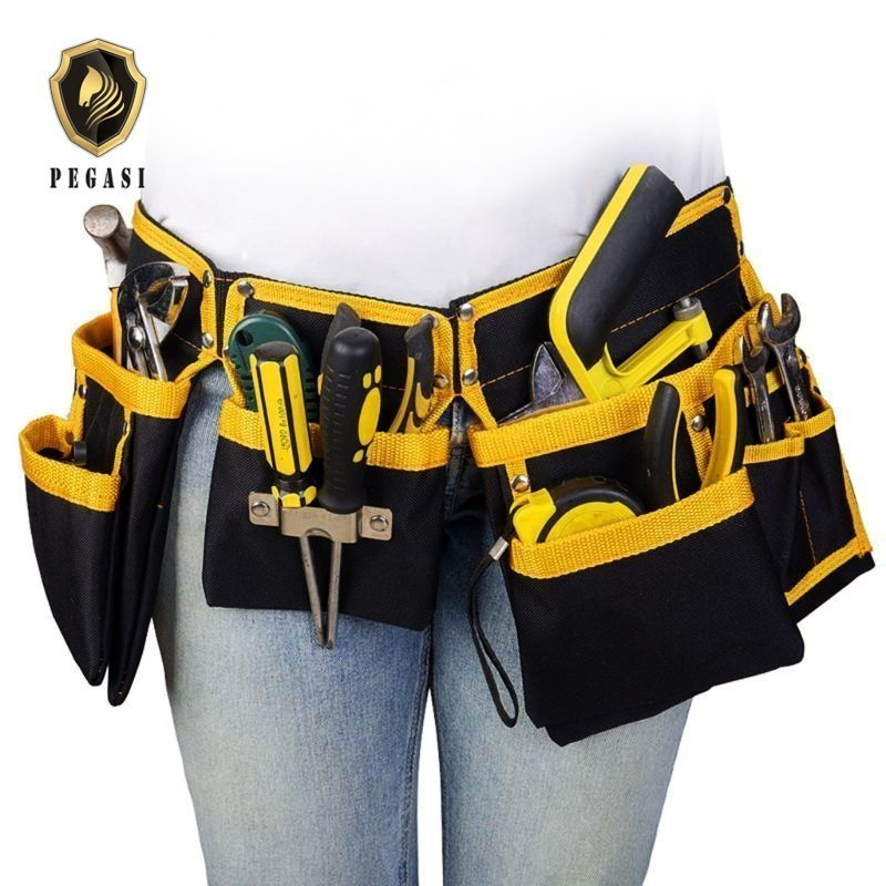 PEGASI Oxford Cloth Multi-functional Electrician Tools Bag Waist Pouch Belt Storage Holder Organizer