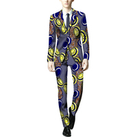 Africa Style M Clothing Dashiki Print Suit Jacket And Pant Men Blazers African Festive Man Blazer For Wedding