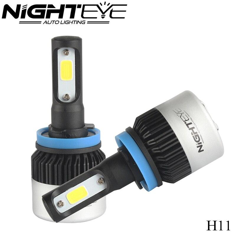 NIGHTEYE car headlight H7 LED H8 H9 H11 HB3 9005 HB4 9006 9007 H4 h3 H1