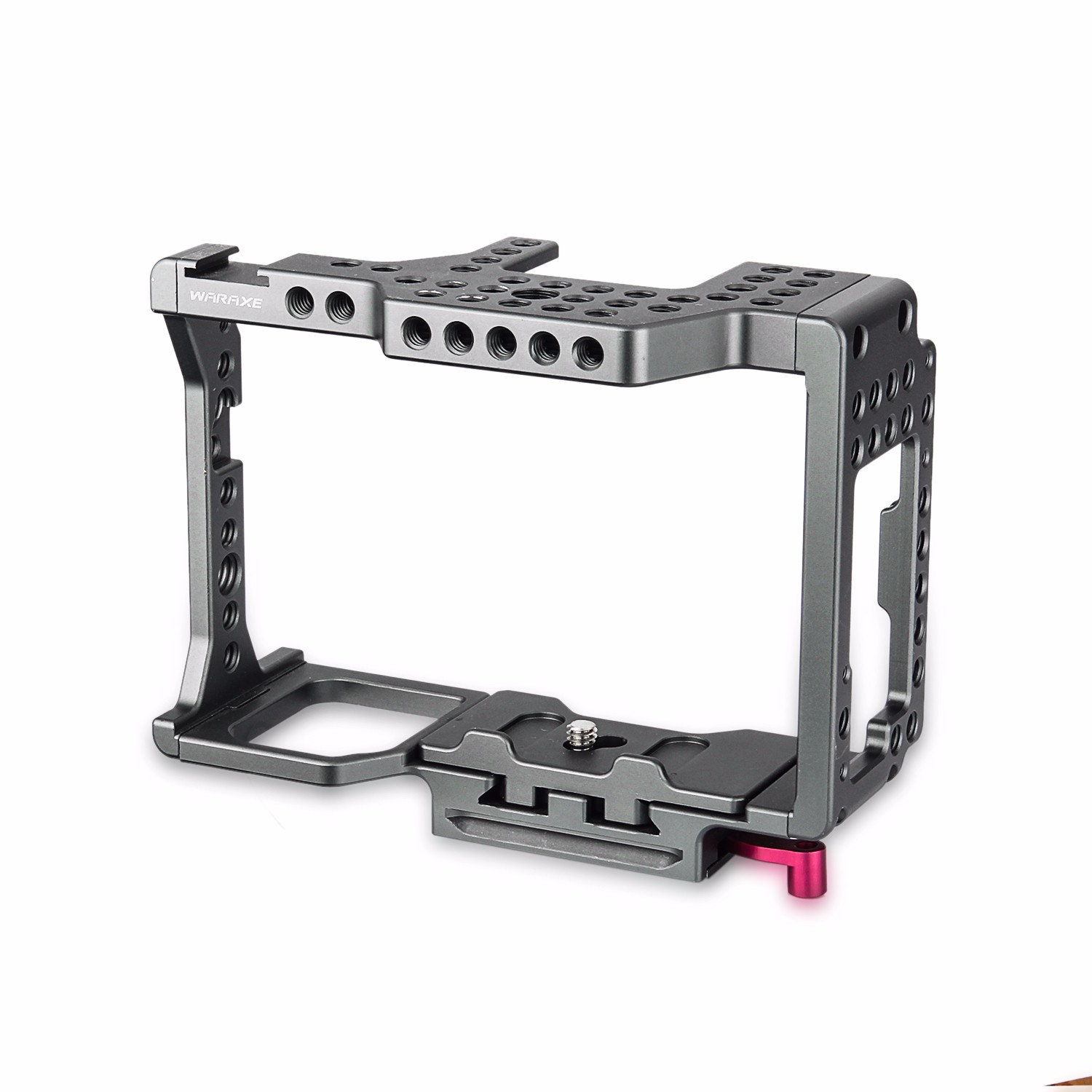 WARAXE Camera Cage Built-in Quick Release Fits Arca Swiss for R S II R II S II Threaded Holes