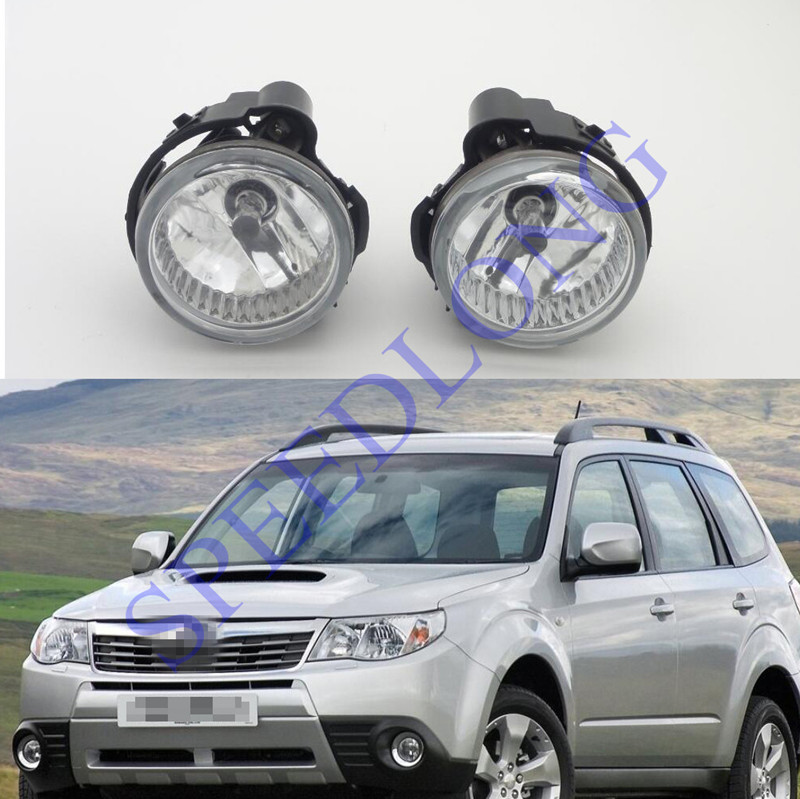 2 Pcs/Pair Clear lens Front bumper fog lamps driving lights with bulbs for Subaru Forester 2011-2013 pair new high quality front fog lamp lights driving lamps clear lens car styling for bmw e39 5 series 2001 2003