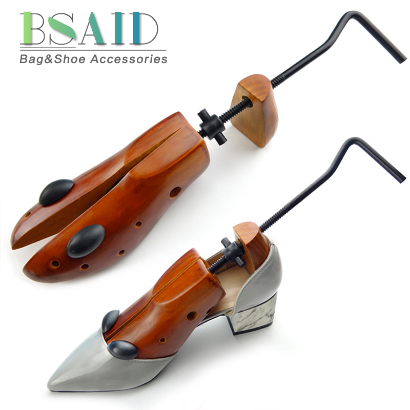 BSAID 1 Pc Unisex 2-way Adjustable Wooden Shoe Stretcher Shoe Expander For Men Shoe Tree Women High Heel Wood Shoe Rack Holder цены