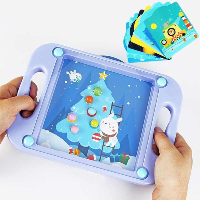 3D пазл развивающий игровой игрушка для детей, Балансирующий мяч, ручная доска для мальчиков от 1 до 3, деревянная головоломка коробка, игрушки для малышей Монтессори