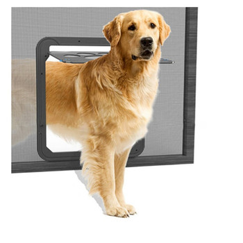 ABS Automatical Pet Dogs Cats Gates Door for Screen Window Home Cottage Plastic Dogs Fence Door Cat Puppy Dog Supplies 1