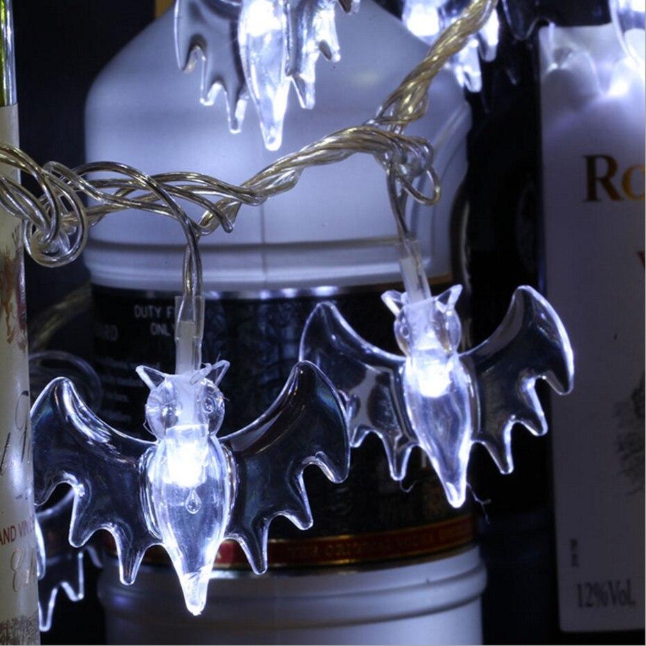 YINGTOUMAN Battery Powered Bat Type String Lights Garden Lamp Christmas Party Festival Holiday Decorative Lightings 5m 40LED