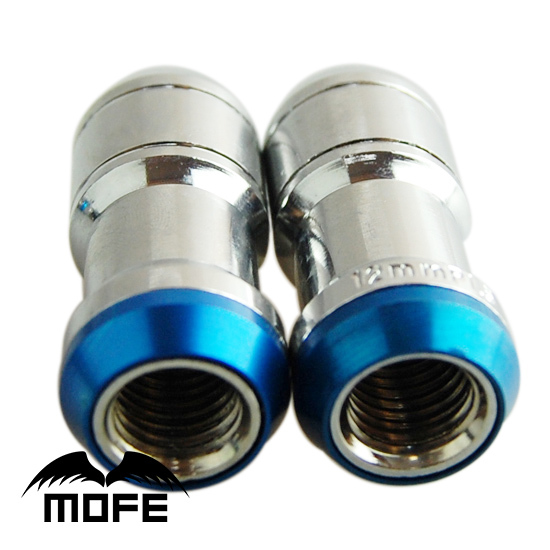 MOFE Original Logo Thread Pitch: M12 * P1.5 Steel Wheel Lock Nuts With Key Adapter Gold
