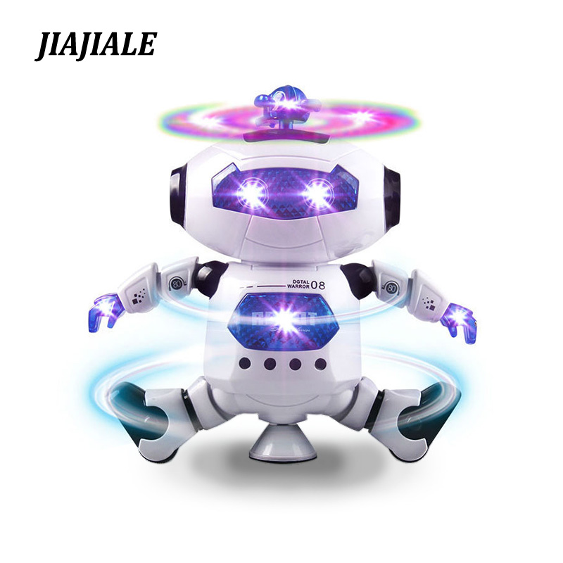 цена на 360 Rotating Smart Space Dance Robot Electronic Walking Toys With Music Light Astronaut Toy For Kid Christmas Birthday boy Gift
