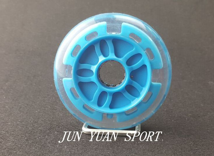 High quality!8Pieces/lot 90mm LED Flash Inline Speed Racing Speed Skating Wheel for Street Brushing Cool Light,Free shipping-in Flashing Roller from Sports & Entertainment