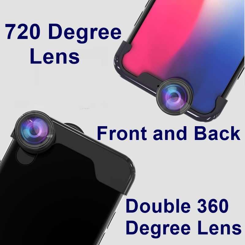 Новые 720 градусов мобильного телефона Объективы для фотоаппаратов Lentes Iphone 7 8 Plus Макро Рыбий глаз объектив Lente Para Celular Iphone X XS