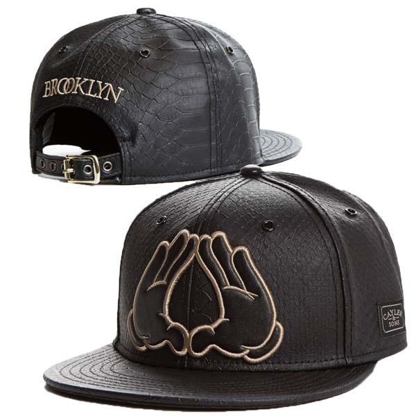 600692ccfe0 NewBrand Cayler Sons black Leather Snapback hat Flower sport hip pop bone baseball  snapback cap for men women gorras sun era hat
