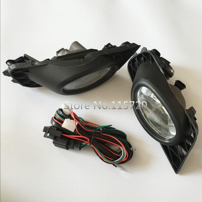 a set fog light lamp assembly fog light wiring harness for. Black Bedroom Furniture Sets. Home Design Ideas