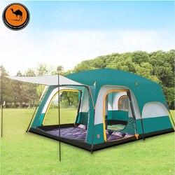 6 8 10 12 persone a doppio strato esterno 2 saloni e 1 sala famiglia campeggio tenda in alta qualità grande spazio tenda