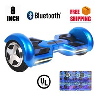 USA Stock New 8 Inch 2 Wheels Bluetooth Hoverboard Electric Self Balancing Scooter Electric Skateboard Hover