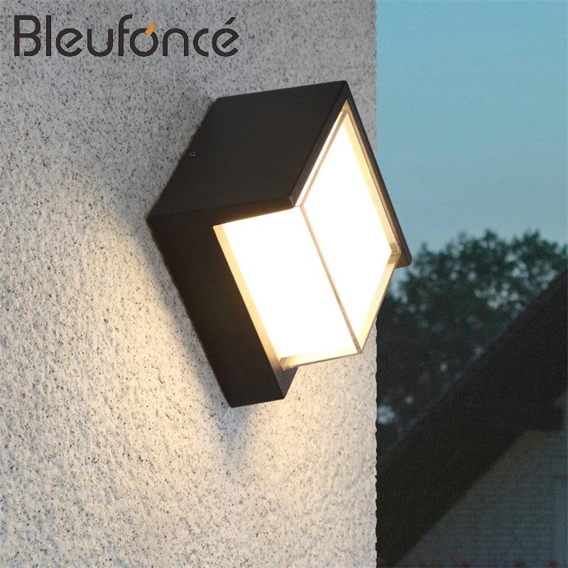 Applique murale étanche extérieure IP65 12 W lumière LED décoration intérieure en aluminium acrylique applique murale chambre lampe jardin lumières BL89