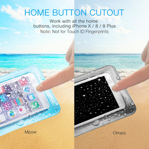 Image 4 - 4pcs Mpow PA132 IPX8 Waterproof Phone Case Bag Pouch Universal For 6.5 inch Cell Phones Home Button Cutout Take Photo Underwater