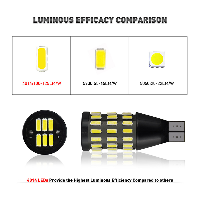 2Pcs T15 W16W Reverse Light LED 921 912 Canbus Error Free Back Up Lights for Volkswagen VW Passat B7 High Bright Auto Lamp Bulb