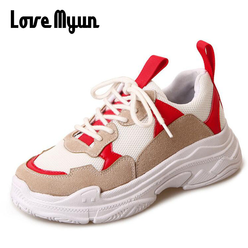 New 2018 Spring Breathable Sneakers Shoes Women Flats Lace-up Fashion lady Casual Shoes Brand Flat female Shoes SB-29 glowing sneakers usb charging shoes lights up colorful led kids luminous sneakers glowing sneakers black led shoes for boys