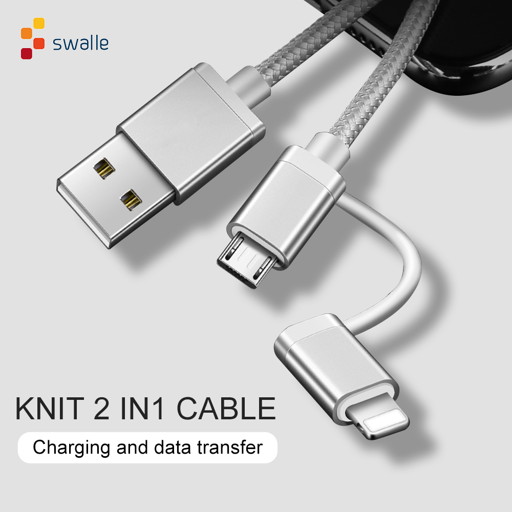 Swalle 2A <font><b>USB</b></font> <font><b>Cable</b></font> for iPhone X 8 7 6 <font><b>Cable</b></font> Micro <font><b>USB</b></font> Type C <font><b>Cable</b></font> for <font><b>Samsung</b></font> <font><b>S9</b></font> S8 Fast Charging <font><b>Cable</b></font> image