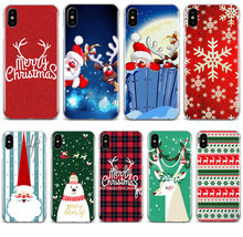 Christmas New Year elk lovers snowman Cute Gift phone Case For iPhone 11 pro max 4S 5S 6s 7 8 plus X XR XS MAX TPU Silicone case