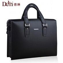 Delin leder tasche geschäfts paket große handtasche herrentasche querschnitt umhängetasche anwalt aktentasche große kapazität starke