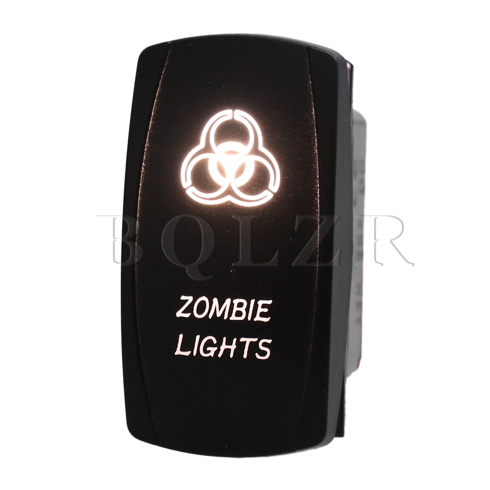 BQLZR Белый LED Светлый Цвет ON-OFF-ON Rocker Switch 4 pin LED Свет Бар для Автомобилей