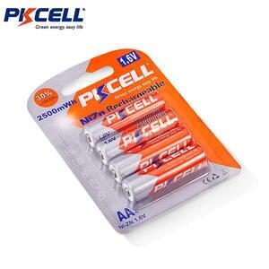 Image 5 - Pkcell 1パック/4個1.6v NI ZN aa 2500mwh充電式バッテリー + 1パック/4個aaa電池900mwhおもちゃマイクラジオ