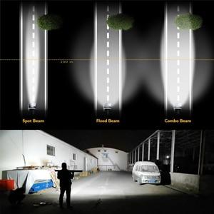 Image 3 - שיתוף אור 12D 3 שורה 22 32 42 50 52 אינץ LED בר 12V 24V ספוט מבול קרן Led רכב נהיגה בר אור Offroad 4x4 משאיות לאדה SUV
