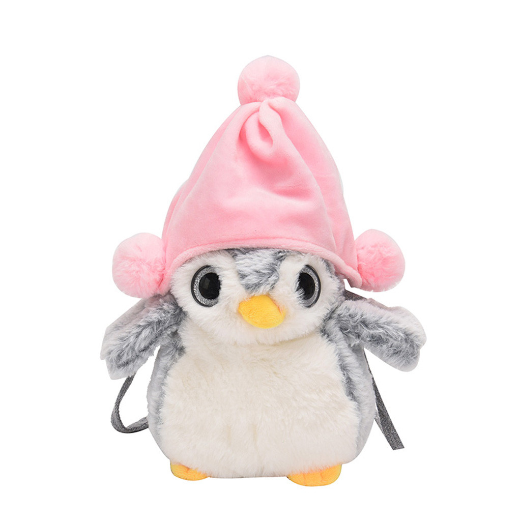 Children Shoulder Bag Mini Fat Penguin-Like Simple Small Square Bag Kids All-Match Key Coin Purse Cute Princess Handbags #T10P(China)