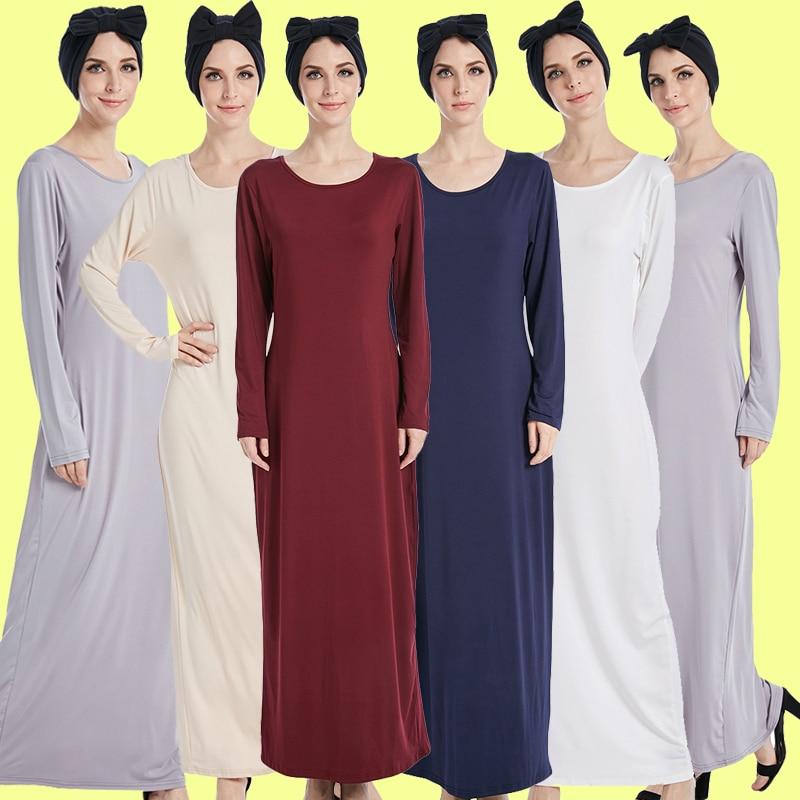 Robe Musulmane Longue Vestidos Longo Women Abaya Dubai Arabic Muslim Hijab Dress Kaftan Elbise Turkish Islamic Ramadan Clothing