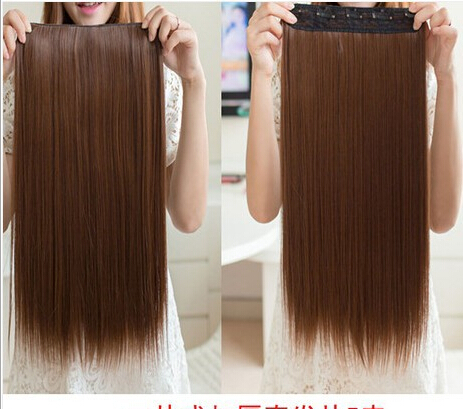 New women one piece synthetic hair extensions long straight clip new women one piece synthetic hair extensions long straight clip in hair extensions no trace of hair on aliexpress alibaba group pmusecretfo Images