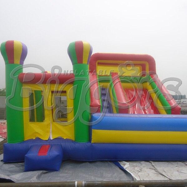 Бесплатная доставка по морю завод прямого надувные слайд прыжки дом раздувной хвастун для детей