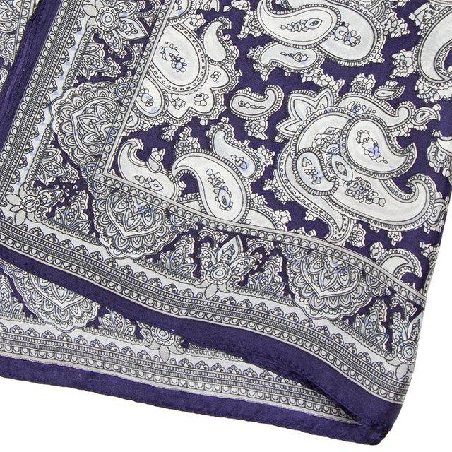 Silky Blue Paisley Neckerchief | Bandana Scarves