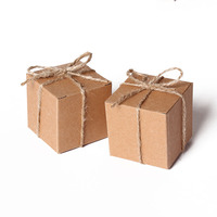 5 5 5Cm Mini Candy Box Kraft Party Favor Box Wedding Party Gift Box For Guest